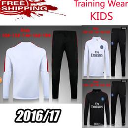 Wholesale kids New PSG Maillot de foot tracksuits survetement football shirts sleeves tight pants sportswear PSG training suit soccer Uniforms