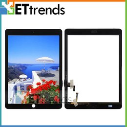 Wholesale for iPad Air iPad Touch Screen Digitizer Assembly Grade AAA Replacement Parts With Home Button Black White AA1357