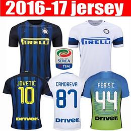 Wholesale Thailand Quality Inter Milan Soccer Jerseys JOVETIC home away white ICARDI PALACIO KONDOGBIA football shirts