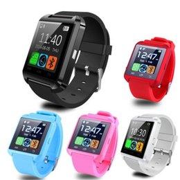 Promotion apple iphone montres intelligentes Bluetooth Watch U8 Montre Smart Watch Sync Notifier Connectivité Pour Apple iPhone Téléphone Android Montres Smartwatch