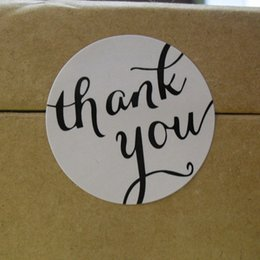 Thank you Adhesive packaging Sealing stickers Gift Bag box bottle label White Material Sticker 100pcs lot Round 30mm