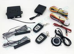 Sistema de alarma del coche de PKE empuje el botón de parada del comienzo, entrada sin llave pasiva, comienzo alejado del motor, pero ninguna sirena El chip HY-904 RM2 evita el dispositivo desde sistema de alarma a distancia un coche proveedores