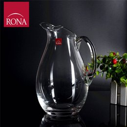 Wholesale Winona Czech RONA lead free crystal wine decanters unique style points new listing ML