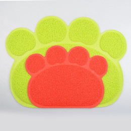 Wholesale Best Quality PVC Pet Dog Cat Feeding Food Mat Easy Cleaning Anti slip Dog Paw Shape Table Mats For Small Medium Large Dogs