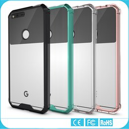 Wholesale Google Pixel Case Transparent Clear Hybrid Bumper Shockproof Back Cover Phone Accessories For Google Pixel Google Pixel XL
