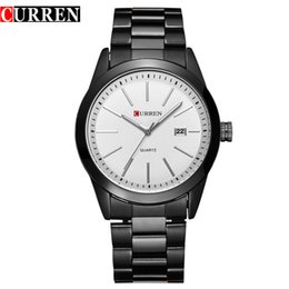 CURREN 8091 fallow concise style Watches business affairs man Fashion Watch Full Steel Dial Wristwatches calendar quartz men's Watches