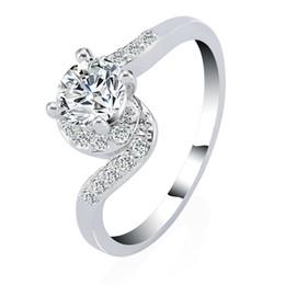 2016 Fashion Design Charm Austrian Crystal Zircon Ring Wedding Engagement Bridal GP Rings for Women Fine Jewelry
