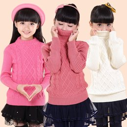 Wholesale-New lovely children's sweaters girl's O-Neck sweater Children's clothing fits 4-15Y freeshipping