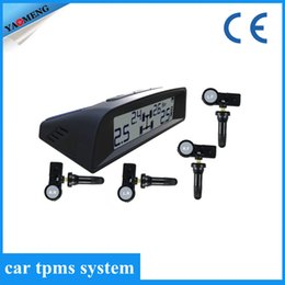 Wholesale TP9N built in solar power TPMS Tire Pressure Monitoring System with internal sensors RF wireless save gas in big solar panel from Yaomeng