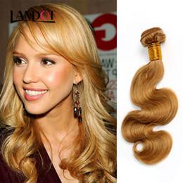 Honey Blonde Brazilian Peruvian Malaysian Indian Russian Human Hair Weave Body Wave 3 4 5 Bundles Lot Color 27# Brazilian Hair Extensions