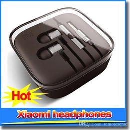 Wholesale MI XIAOMI Piston Earphone Headphone Headset Earbud with Remote Mic For MI4 MI3 Hongmi For Iphone s s Samsung Headphones with logo DHL