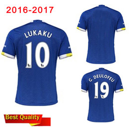 Wholesale 2016 top new Evertonizers Adult T shirt Home and Away maillot de Football everton Shirt soccer uniforms Accepted Mix Order Free shipp