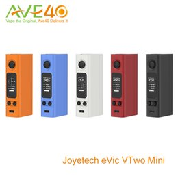 Wholesale Joyetech eVic VTwo Mini W New Evic Mini v2 TCR VW VT Box Mod Super Large OLED Screen Battery Protection System VS Cuboid