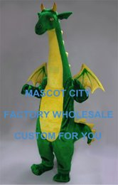 Wholesale Big Green Fantasy Dragon Mascot Costume Low cost Cartoon Character Advertising Performance Costumes for Party Carnival SW765