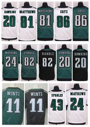 Wholesale 2016 New Elite Eagles Jerseys Sam Bradford Brian Dawkins Ryan Mathews Carson Wentz jordan matthews Randle Zach Ertz
