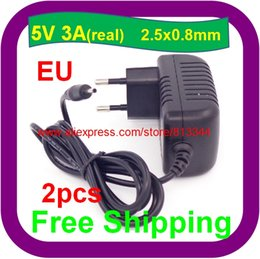 Wholesale Sanei Quad Wholesale - 2 pcs 5V 3A 2.5mm power adapter charger for Ainol novo 9 Hero II Spark Firewire quad tablet pc sanei n10 3g
