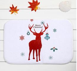 Christmas red deer live in the bedroom door antiskid mat mixed batch of factory custom wholesale
