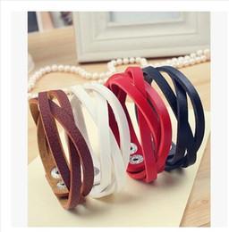 new Fashion PU Bracelet hand knitting Leather Bracelet Womens Mens Multilayer Leather Wrap Bracelet Charm Bracelet