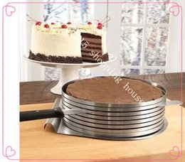 Métal rodage à vendre-outil de cuisson en acier inoxydable activités en couches et télescopiques autour de l'outil 15-20cm gâteau au tour