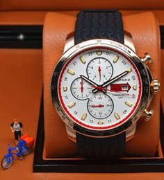 Wholesale 2014 New style luxury watches best men white dial chronograph watch miglia sport rubber band golden wristwatch