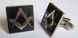 Wholesale Hot sale Promotion MM Fashion Masonic Blue Lodge Cufflinks for the Freemason freeship to some area
