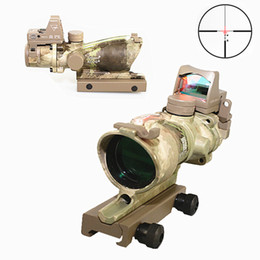 Trijicon TA31 ACOG Style 4X32 AT Real Fiber Source Red Illuminated Sight Scope w  RMR Micro Red Dot or Green Dot telescope