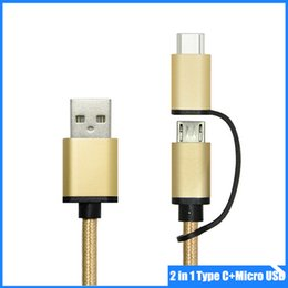 Wholesale 2 in Smartphone Type C to USB2 and Micro USB Charging Cable for ASUS Z580C tablet Nokia N OnePlus2