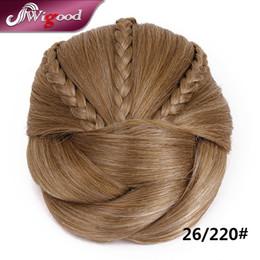 Wholesale PC G Postiche Chignon Hairstyle Fake Hair Bun Pieces Braids Clip In Hair Bun Extensions Postiche Cheveux Chignon Wigood
