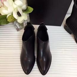 Wholesale Original Middle Boots ladies wear Exquisite craft import cowskin vamp sheepskin inside genuine leather tread heel high cm boot high cm