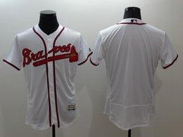 Wholesale 2016 New Flexbase Mens Atlanta Braves Blank Baseball Jerseys White Red Gray Cheap Outlets Store