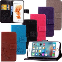 Wholesale Retail cell phone case high quality PU leather flip cover women beautiful flower handbag case for iPhone s SE s plus