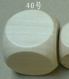 40mm Blank 6 Sided Dice Bosons Wooden Dices Special Purpose Dice DIY Processing Dice Small Gift Game Dices Good Price High Quality #B5