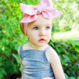 Pink Princess birthday headband ,big Baby Bows ,DIY plain Pink baby girls head wrap ,newborn photo prop ,children's accessories