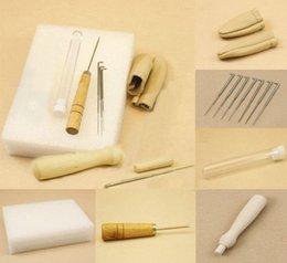 Wholesale set fibre Needle Felting Starter Kit Wool Felt Tools Mat Needle Awl finger stall Accessories Craft