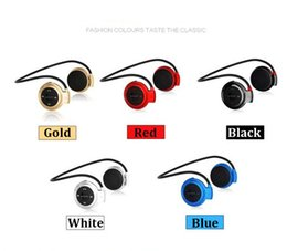 Wholesale Bilateral Stereo Bluetooth Sport Headset NFC Function Slot Battery Indicator HeadsetCell Phone Card Earphones Support For Music