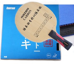 Wholesale Recommend DIY table tennis racket completed RAZER OFF blade and KOKUTAKU rubber Red and Black cheap but best performance