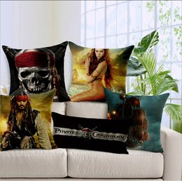 Wholesale World Famous Films Pirates of the Caribbean Jack Mermaid Skull Film Image Printing Cushions Movie Pic Kuroko Not Basket Perfect Pillow Cases