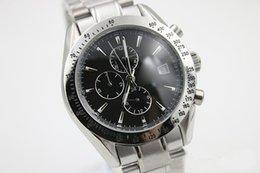 Wholesale Top Discount Quartz Chronometer Om0Speed Wristwatch Master Planet Ocean Full Stainless Steel Strap Skeleton Black Dial Racing Male Watch