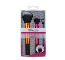 Wholesale RT Brand duo fiber collection Makeup Brushes Cosmetic Beauty Tools Blending Face Powder Brushes DHL