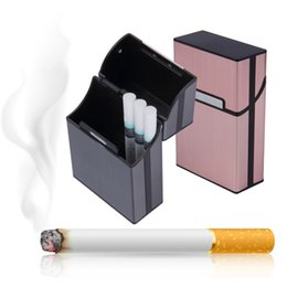 Wholesale Light Aluminum Cigar Cigarette Case Tobacco Holder Pocket Box Storage Container