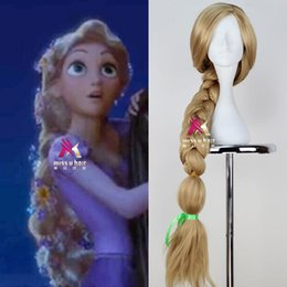 Wholesale 100 Brand New High Quality Fashion Picture wigs gt gt Movie Tangled Rapunzel s Wig Super Long Braid Anime Cosplay Wig