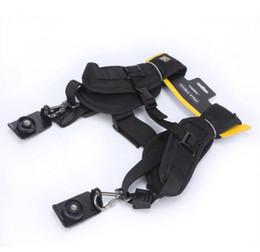 Wholesale Black Quick Rapid Double Dual Shoulder Sling Belt Adjustment Speed Strap For Digital Camera SLR DSLR Cameras Canon