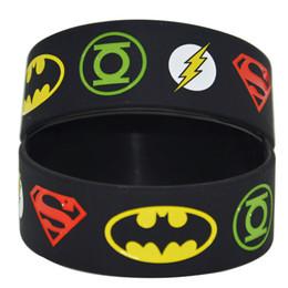 25pcs lot Justice League Superman Batman Green Lantern The flash Wristband Bracelet