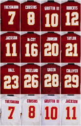 Wholesale 44 John Riggins DeSean Jackson Doug Williams DeAngelo Hall Josh Doctson Red White New Football Jerseys