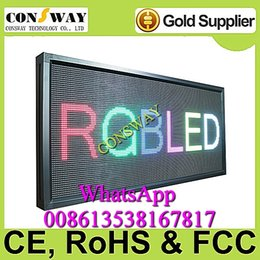 Wholesale and CE approved electronic led scrolling screen panel with WIFI and size mm