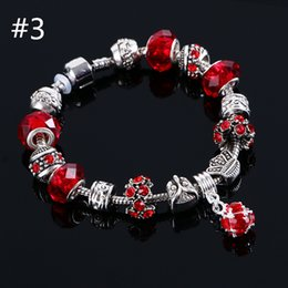Wholesale beaded charms jewelry bracelets infinity beads bracelet new fashion colors charm Owl Jewelry fashion Cute European Beads bracelet