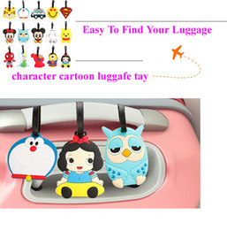 Wholesale Fashion lovely cartoon luggage tags pvc travel baggage tag PERSONALIZED Identification card suitcase label Bag jewelry Pendants accessories