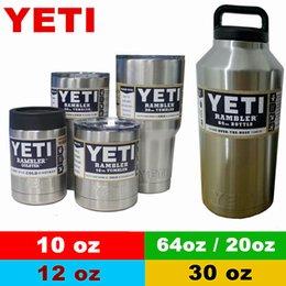 Wholesale YETI Rambler oz oz oz oz oz Cups Cooler YETI Rambler Tumbler Travel Vehicle Beer Mug Double Wall Bilayer Vacuum Insulated OTH242
