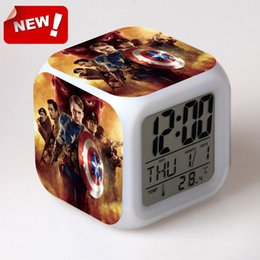 Wholesale USA captain peripheral products the Avengers alarm clocks classic toys dolls movie tv nightlight supermario night light toys action figure