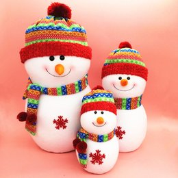 Wholesale new Christmas decorations Christmas snowman bubble family combination Wear a hat Holiday gifts Hot buying